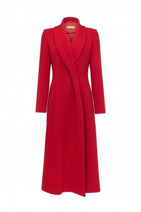 Пальто с перекрученным лацканом