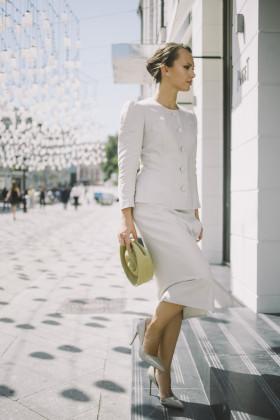 Льняная юбка с запахом